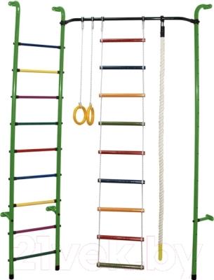 Детский спортивный комплекс Формула здоровья Робинзон-А Плюс (зеленый/радуга)