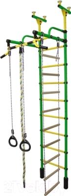 Детский спортивный комплекс Формула здоровья Жирафик-2А Плюс (зеленый/желтый)