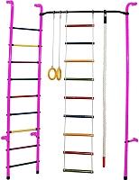 Детский спортивный комплекс Формула здоровья Робинзон-А Плюс (розовый/радуга) -