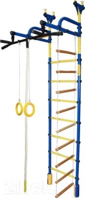 Детский спортивный комплекс Формула здоровья Жирафик-2А Плюс (синий/желтый)