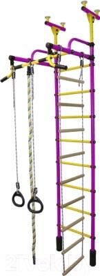 Детский спортивный комплекс Формула здоровья Жирафик-2А Плюс (фиолетовый/желтый)