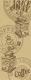Циновка Balta 49061/067 (80x200, бежевый) -