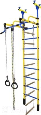 Детский спортивный комплекс Формула здоровья Жирафик-2А Плюс (желтый/синий)