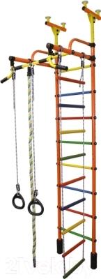 Детский спортивный комплекс Формула здоровья Жирафик-2А Плюс (оранжевый/радуга)