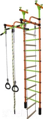 Детский спортивный комплекс Формула здоровья Жирафик-2А Плюс (оранжевый/салатовый)