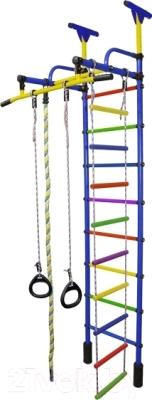 Детский спортивный комплекс Формула здоровья Жирафик-1А Плюс Универсальный (синий/радуга)
