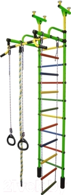 Детский спортивный комплекс Формула здоровья Жирафик-2А Плюс (салатовый/радуга)
