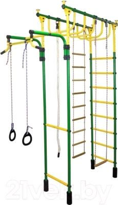 Детский спортивный комплекс Формула здоровья Великан-2С Плюс (зеленый/желтый)