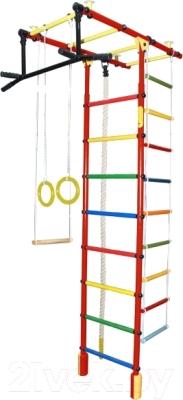 Детский спортивный комплекс Формула здоровья Атлант-3С Плюс (красный/радуга)