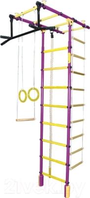 Детский спортивный комплекс Формула здоровья Атлант-3С Плюс  (фиолетовый/желтый)