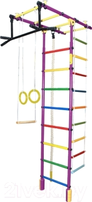 Детский спортивный комплекс Формула здоровья Атлант-3С Плюс  (фиолетовый/радуга)