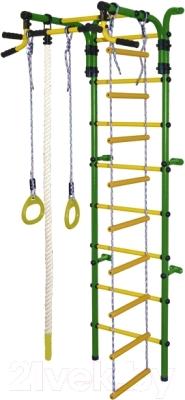 Детский спортивный комплекс Формула здоровья Орленок-4А Плюс (зеленый/желтый)