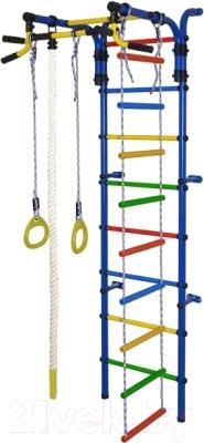Детский спортивный комплекс Формула здоровья Орленок-4А Плюс (синий/радуга)