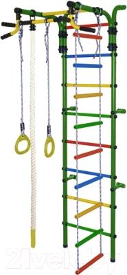 Детский спортивный комплекс Формула здоровья Орленок-4А Плюс (зеленый/радуга)