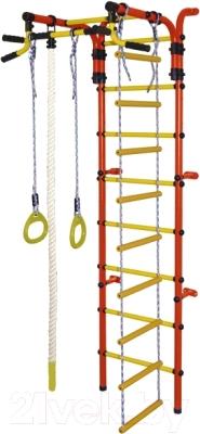 Детский спортивный комплекс Формула здоровья Орленок-4А Плюс (красный/желтый)