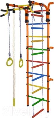 Детский спортивный комплекс Формула здоровья Орленок-4А Плюс (оранжевый/радуга)
