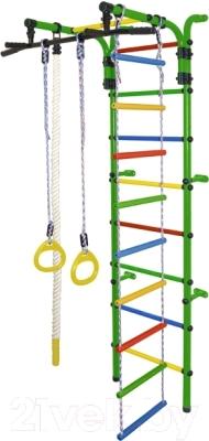 Детский спортивный комплекс Формула здоровья Орленок-3А Плюс (зеленый/радуга)