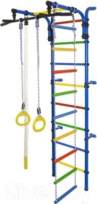 Детский спортивный комплекс Формула здоровья Орленок-3А Плюс (синий/радуга)