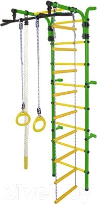 Детский спортивный комплекс Формула здоровья Орленок-3А Плюс (зеленый/желтый)