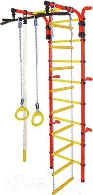 Детский спортивный комплекс Формула здоровья Орленок-3А Плюс (красный/желтый)