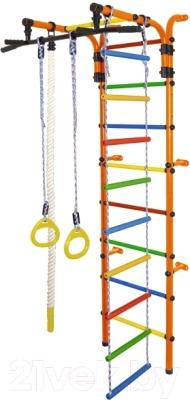 Детский спортивный комплекс Формула здоровья Орленок-3А Плюс (оранжевый/радуга)