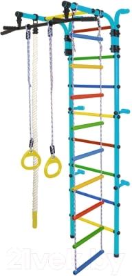 Детский спортивный комплекс Формула здоровья Орленок-3А Плюс (голубой/радуга)