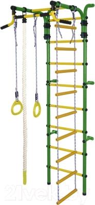 Детский спортивный комплекс Формула здоровья Орленок-2А Плюс (зеленый/желтый)