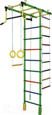 Детский спортивный комплекс Формула здоровья Атлант-2С Плюс (зеленый/радуга)