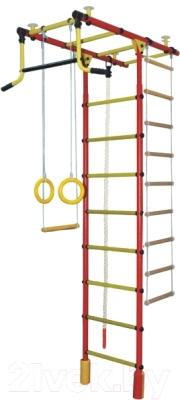 Детский спортивный комплекс Формула здоровья Атлант-2С Плюс (красный/желтый)