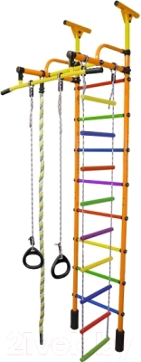 Детский спортивный комплекс Формула здоровья Жирафик-1А Плюс Универсальный (оранжевый/радуга)