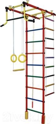 Детский спортивный комплекс Формула здоровья Атлант-2С Плюс (красный/радуга)