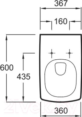 Унитаз подвесной Jacob Delafon Escale E1306-00