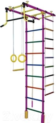 Детский спортивный комплекс Формула здоровья Атлант-2С Плюс (фиолетовый/радуга)