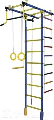 Детский спортивный комплекс Формула здоровья Атлант-2С Плюс (синий/желтый)