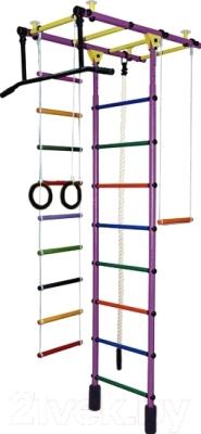 Детский спортивный комплекс Формула здоровья Атлант-1С Плюс (фиолетовый/радуга)