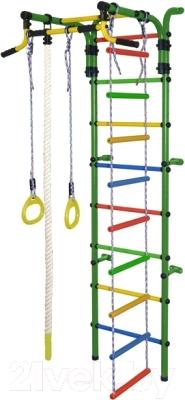Детский спортивный комплекс Формула здоровья Орленок-2А Плюс (зеленый/радуга)