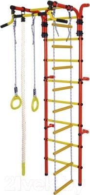 Детский спортивный комплекс Формула здоровья Орленок-2А Плюс (красный/желтый)