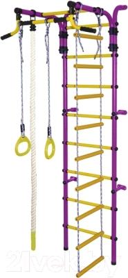 Детский спортивный комплекс Формула здоровья Орленок-2А Плюс (фиолетовый/желтый)