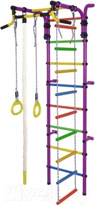 Детский спортивный комплекс Формула здоровья Орленок-2А Плюс (фиолетовый/радуга)
