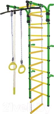 Детский спортивный комплекс Формула здоровья Орленок-1А Плюс (зеленый/желтый)