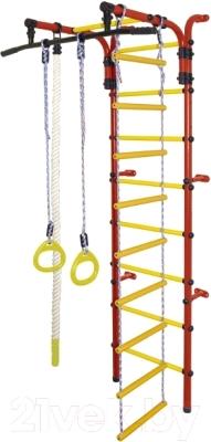 Детский спортивный комплекс Формула здоровья Орленок-1А Плюс (красный/желтый)
