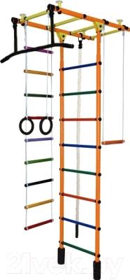 Детский спортивный комплекс Формула здоровья Атлант-1С Плюс (оранжевый/радуга)