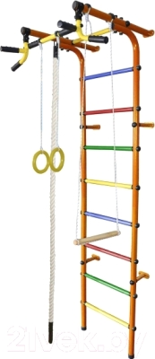 Детский спортивный комплекс Формула здоровья Непоседа-4В Плюс (оранжевый/радуга)