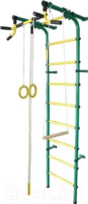 Детский спортивный комплекс Формула здоровья Непоседа-4В Плюс (зеленый/желтый)