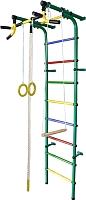 Детский спортивный комплекс Формула здоровья Непоседа-4В Плюс (зеленый/радуга) -