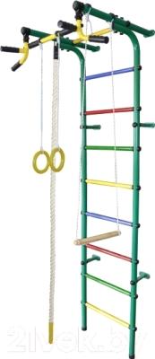 Детский спортивный комплекс Формула здоровья Непоседа-4В Плюс (зеленый/радуга)