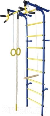 Детский спортивный комплекс Формула здоровья Непоседа-4В Плюс (синий/желтый)