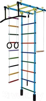 Детский спортивный комплекс Формула здоровья Атлант-1С Плюс (голубой/радуга)