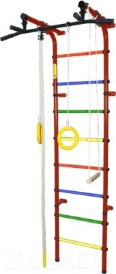 Детский спортивный комплекс Формула здоровья Непоседа-3В Плюс (красный/радуга)