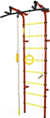Детский спортивный комплекс Формула здоровья Непоседа-3В Плюс (красный/желтый)